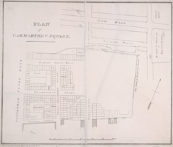 Plan of Carmarthen Square